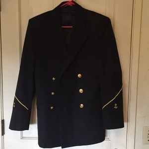 Men's Military Navy Captain Jacket Size 36 R